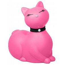Розовый массажёр-кошка I Rub My Kitty с вибрацией  I Rub My Kitty - еще одно произведение искусства от создателя чудесных вибрирующих уточек.