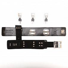 Фиксация БДСМ: наручники и ошейник - Пикантные штучки   Отличный набор для фиксации Нижнего: ошейник с пристегнутыми наручниками.