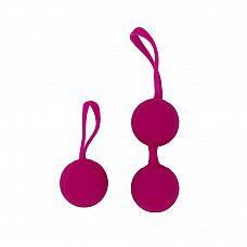 Набор для тренировки вагинальных мышц Kegel Balls - RestArt, 3,5 см., Розовый  Набор для тренировок вагинальных мышц, состоящий из двух видов вагинальных шариков, собирающихся вместе.