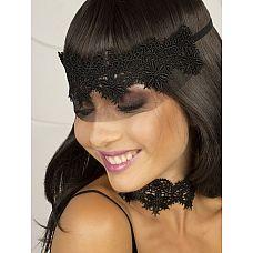 Кружевная маска-диадема Bello fiore  Роскошная кружевная полумаска, украшающая женскую головку как диадема, чуть ниспадающая полупрозрачным флёром на глаза.