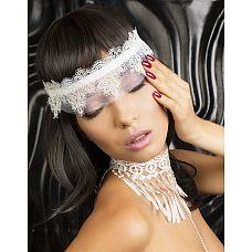 Кружевная маска-диадема Delicati pizzi  Нежная, невероятно чувственная кружевнаяPполумаска, украшающая женскую головку как диадема.