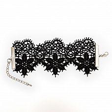 Кружевной браслет Albori с цветочными мотивами  Кружевной браслет с нежным, очень красивым цветочным плетением и элементами из родированного металла украсит любую ручку.
