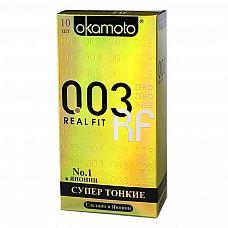 Презервативы OKAMOTO Real Fit №10 супер тонкие облегающей формы - 1 уп (10 шт)  Супер тонкие презервативы OKAMOTO Real Fit №10 имеют особую облегающую форму, что обеспечивает максимальную чувствительность и самые яркие ощущения.