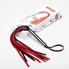 Плеть мини лента цвет: черный/красный  Плеть мини изготовлена из натурального латекса, имеет 10-12 хвостов длиной 25-30см.