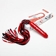 Плеть мини Ракета цвет: черный/красный  Плеть мини Ракета многохвостая изготовлена из натурального латекса, имеет 20 хвостов длиной 40-45 см, хвосты имеют вид лент шириной 7мм.
