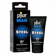 Эрекционный гель для пениса pjur MAN Steel Gel - 50 мл.  Гель-крем для достижения эрекции мгновенного действия.