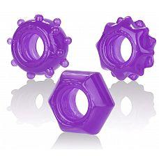 Набор из 3 колец на пенис Reversible Ring Set  Набор колец на пенис Reversible Ring Set-PURPLE - три эрекционных кольца разного диаметра.