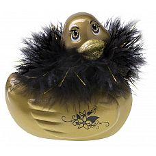 Золотистый массажер-уточка I Rub My Duckie Paris Gold Travel Size  Уточка-массажер-вибратор -Pэксклюзивная игрушка в невероятном дизайне.