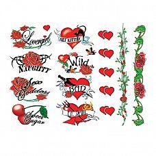 Тату-набор - Naughty Bachelorette, 40 шт   Украсьсвоетело с этим набором озорных флеш татуировок (40 шт в комплекте).