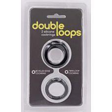 Набор из 2 эрекционных колец Double Loops  Набор из 2 эрекционных колец разной толщины.