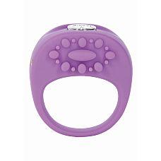 Виброкольцо Key Ela, Фиолетовый  Перезаряжаемое мощное кольцо-стимулятор имеет 5 интенсивных функций.