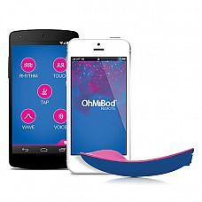 Вибратор со смарт-управлением OhMiBod Blue Motion NEX 1, 9,5 см.   Это не просто клиторальный вибратор.