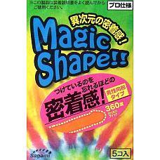 Презервативы Sagami Xtreme Magic Shape с ребристым швом - 5 шт.  Прозрачные презервативы без накопителя с розовым оттенком и ребристым швом на гладкой поверхности.