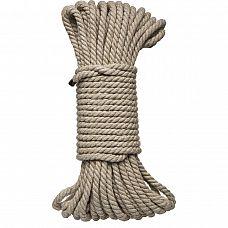 Бондажная пеньковая верёвка Kink Bind   Tie Hemp Bondage Rope 50 Ft - 15 м.  Бондажная пеньковая верёвка Kink Bind & Tie Hemp Bondage Rope 50 Ft.
