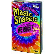 Презервативы Sagami Xtreme Magic Shape с ребристым швом - 10 шт.  Прозрачные презервативы без накопителя с розовым оттенком и ребристым швом на гладкой поверхности.