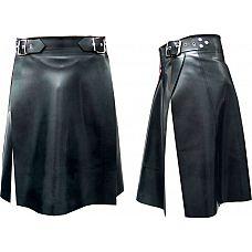 Килт из латекса Mister B Rubber Kilt , XL, Черный  Оригинальный килт из красивого полуматового латекса.