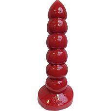 Анальная пробка-гигант Prostidude 32 см - Mister B, Красный  Любите приличные размеры? Тогда эта игрушка способна вам понравиться.