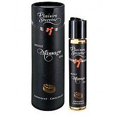 Массажное масло с ароматом шоколада Huile de Massage Gourmande Chocolat - 59 мл.  Массажное масло безопасное при проглатывании.