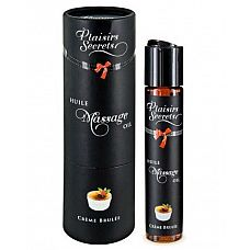 Массажное масло с ароматом крем брюле Huile de Massage Gourmande Creme Brul™e - 59 мл.  Массажное масло безопасное при проглатывании.