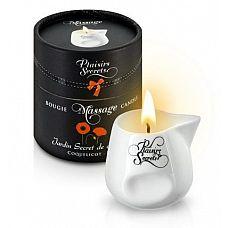 Массажная свеча с ароматом мака Jardin Secret De Provence Coquelicot - 80 мл.  Зажгите свечу, и она превратится в ароматное масло для массажа.