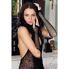 Длинные сетчатые перчатки-митенки Nathalia  Длинные сетчатые перчатки-митенки Nathalia.