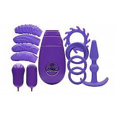 Фиолетовый вибронабор FLIRTY KIT SET  Фиолетовый вибронабор FLIRTY KIT SET.