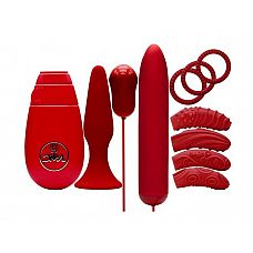 Красный вибронабор FLIRTY KIT SET  Красный вибронабор FLIRTY KIT SET.