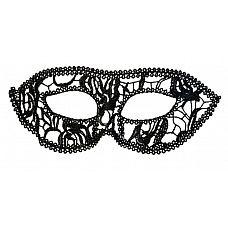 Нитяная маскарадная маска на глаза  Маска классической маскарадной формы.
