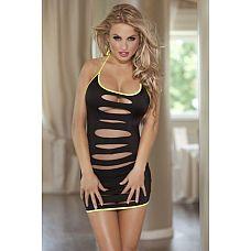 Платье с разрезами и ярким кантом  Сексуальное платье, декорированное ярким цветом.