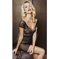 Ажурное мини-платье Dolce Piccante  Полупрозрачное мини-платье из сеточки с ажурным принтом.