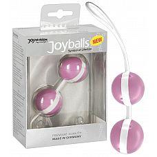 Нежно-розовые вагинальные шарики Joyballs Bicolored  Нежно-розовые вагинальные шарики Joyballs Bicolored.
