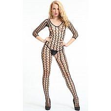 Комбинезон из крупной сетки Dolce Piccante  Сексуальный комбинезон из очень крупной ажурной сетки интересного плетения.