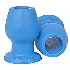Голубой анальный тоннель с большим отверстием - 10,5 см.   Голубой анальный тоннель с большим отверстием от Erasexa - первого и пока единственного российского производителя товаров интимного назначения для поклонников зооэротики.