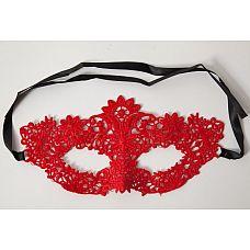 Кружевная маска с цветочным узором  Кружевная маска в венецианском стиле с многочисленными узорами.