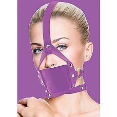 "Кляп Leather Mouth Purple OUCH!  SH-OU148PUR  ""Кляп из натуральной кожи."
