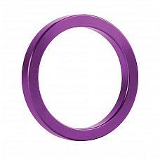 Фиолетовое металлическое эрекционное кольцо Metal Cockring  С металлическим эрекционным кольцом вас не остановить.