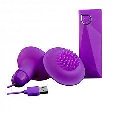 Фиолетовые вибростимуляторы с щёточками для стимуляции клитора и сосков  Фиолетовые вибростимуляторы с щёточками для стимуляции клитора и сосков.