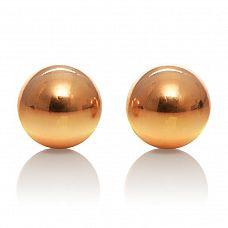 Золотистые вагинальные шарики Entice Weighted Kegel Balls  Золотистые вагинальные шарики Entice Weighted Kegel Balls. Гладкие, металлические.