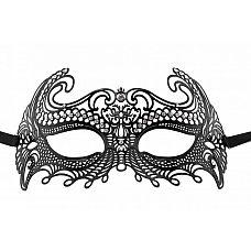 Чёрная металлическая маска Sea Goddes Masquerade Mask  Чёрная металлическая маска Sea Goddes Masquerade Mask.