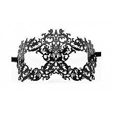 Чёрная металлическая маска Forrest Queen Masquerade  Чёрная металлическая маска Forrest Queen Masquerade.