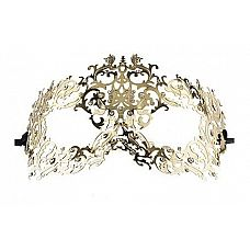 Золотистая металлическая маска Forrest Queen Masquerade  Золотистая металлическая маска Forrest Queen Masquerade.