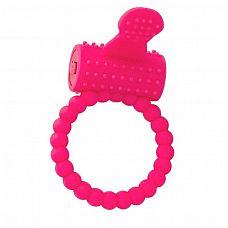 Розовое силиконовое виброкольцо A-toys  Силиконовое виброкольцо А-Toys позволит вам усилить ощущения и получить совместное удовольствие от секса.