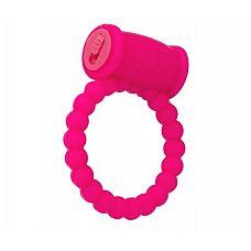 Розовое виброкольцо на пенис A-toys из силикона  Силиконовое виброкольцо А-Toys позволит вам усилить ощущения и получить совместное удовольствие от секса.