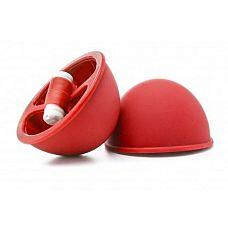 Красные вакуумные присоски с вибрацией Vibrating Suction Cup  Применение присосок уходит своими корнями в альтернативную китайскую медицину, а сегодня эта практика широко используется в БДСМ.