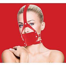 Красный кожаный кляп Leather Mouth Gag  Кляп из натуральной кожи.