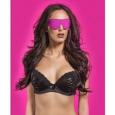 Чёрно-розовая двусторонняя маска на глаза Reversible Eyemask  Эта маска на глаза имеет полиуретановую и неопреновую стороны, что позволяет выбирать касающийся вашей кожи материал простым выворачиванием маски на другую сторону.