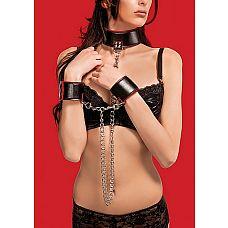 Ошейник с наручниками OUCH!   Удобный и красивый комплект.