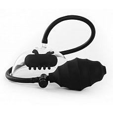 Чёрная вакуумная вибропомпа Vibrating Pussy Pump  Окажитесь на вершине экстаза с этим вибрирующим насосом для клитора и половых губ! Он снабжен пластиковой чашей, которую Вы можете одеть поверх вагины.