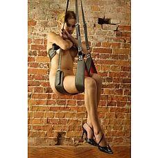 Кожаные секс-качели  Качели для секса выполнены из натуральной кожи и представляют собой конструкцию из удобных опор для рук и ног, спины и сидения.