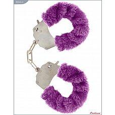 Металлические наручники с фиолетовым мехом  Металлические наручники, изготовленные из высококачественной стали.